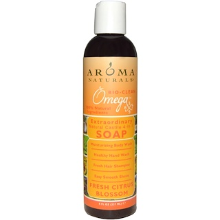 Aroma Naturals, 4-in-1 Soap, Fresh Citrus Blossom, 8 fl oz (237 ml)