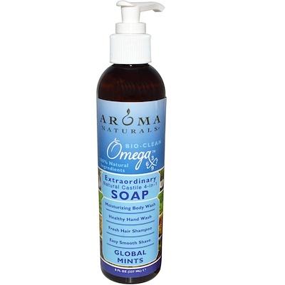 Aroma Naturals 4-in-1 Soap, Global Mints, 8 fl oz (237 ml)
