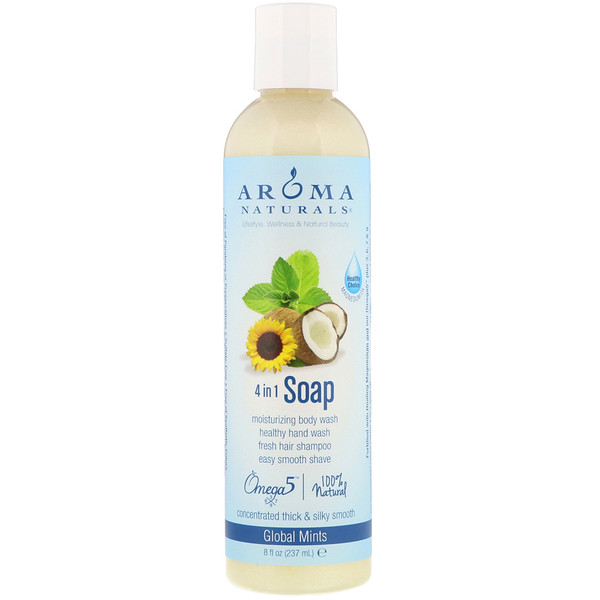 Aroma Naturals, 4-in-1 Soap, Global Mints, 8 fl oz (237 ml) (Discontinued Item)