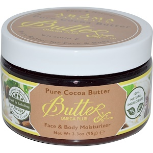 Арома Натуралс, Pure Cocoa Butter with Vitamin E for Face & Body, 3.3 oz (95 g) отзывы