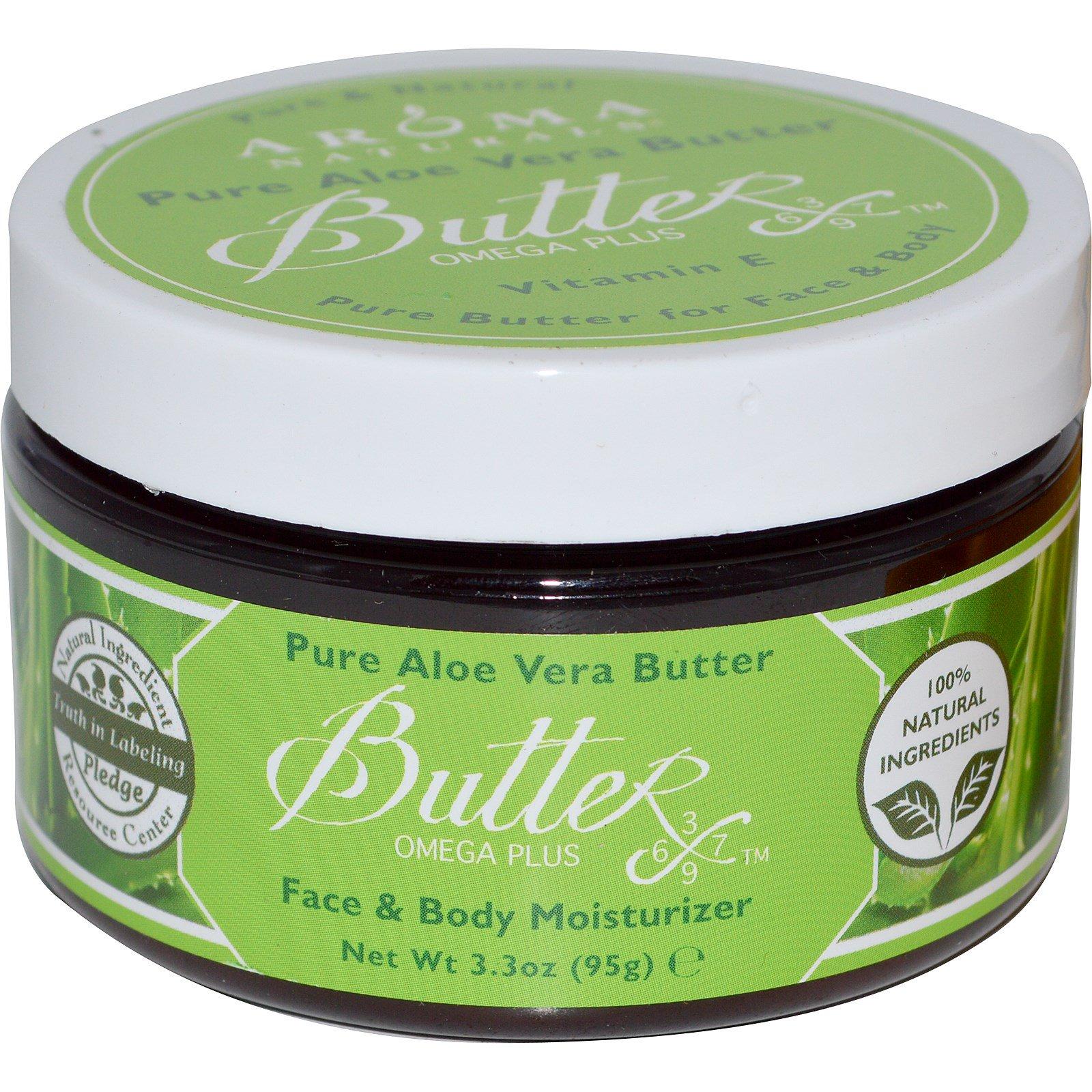 Aroma Naturals, Чистое масло алоэ вера для лица и тела, 3.3 унции (95 г)