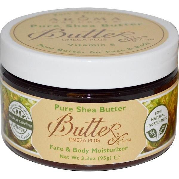 Aroma Naturals, Натуральное масло ши, увлажнитель для лица и тела, 95 г (3,3 унции) (Discontinued Item)