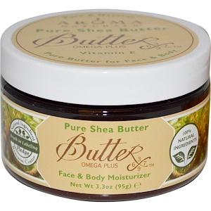 Арома Натуралс, Pure Shea Butter, Face & Body Moisturizer, 3.3 oz (95 g) отзывы