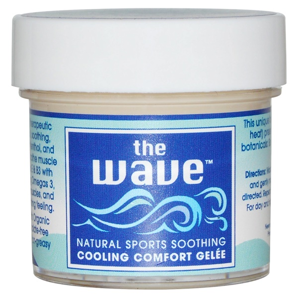Aroma Naturals, The Wave, Natural Sports Soothing, Cooling Comfort Gelee, 1 oz (30 g)