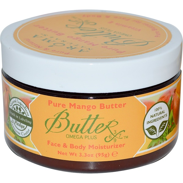 Aroma Naturals, Pure Mango Butter, Face & Body Moisturizer, 3.3 oz (95 g) (Discontinued Item)