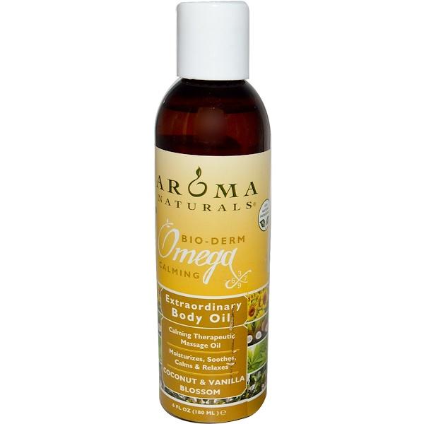 Aroma Naturals, Extraordinary Body Oil, Coconut & Vanilla Blossom, 6 fl oz (180 ml) (Discontinued Item)