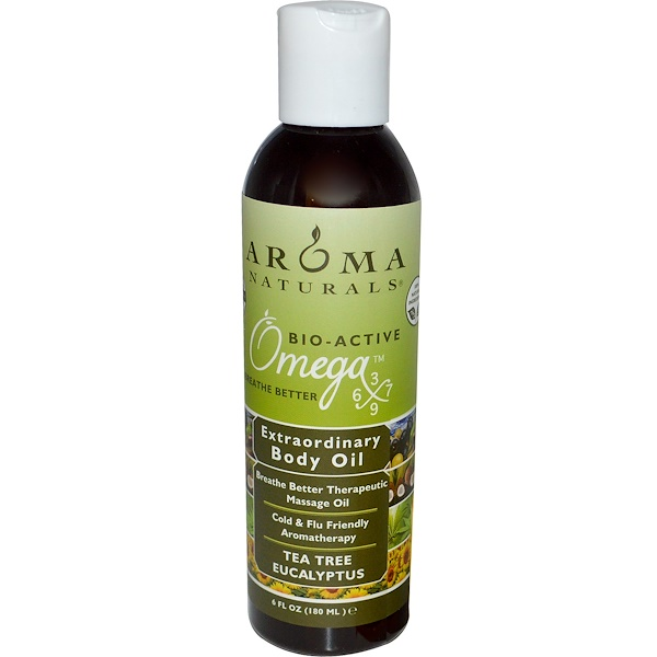 Aroma Naturals, Extraordinary Body Oil, Tea Tree Eucalyptus, 6 fl oz (180 ml) (Discontinued Item)