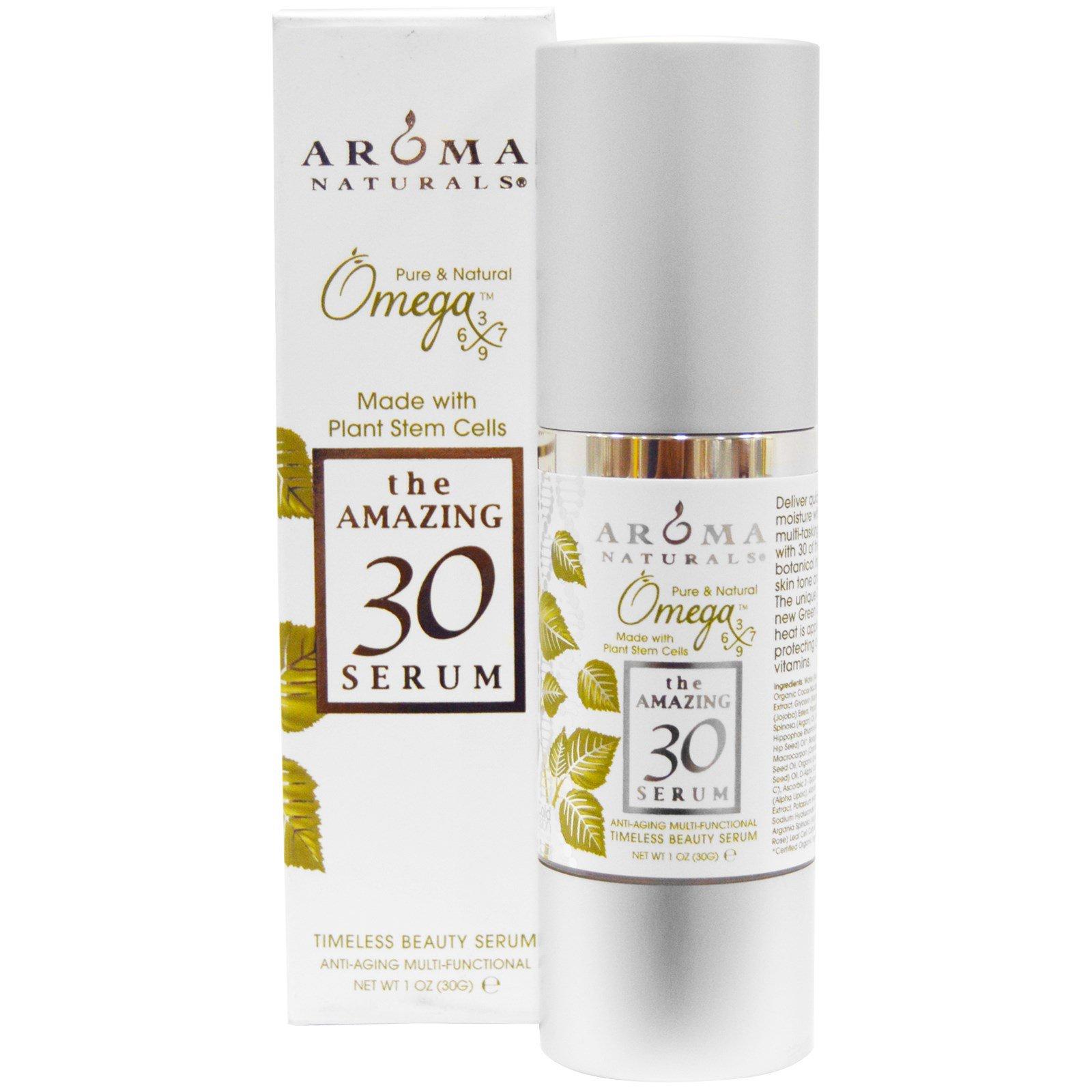 Aroma Naturals, The Amazing 30 Serum, многофункциональная омолаживающая сыворотка, 1 унция (30 г)