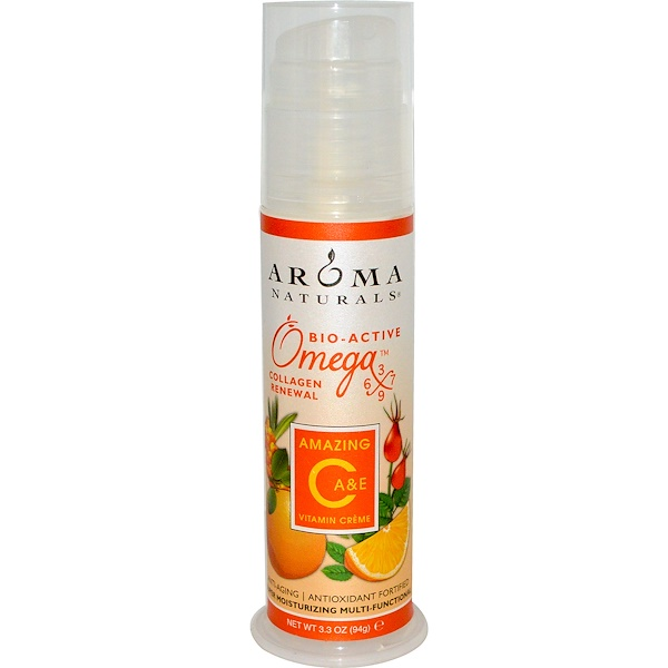 Aroma Naturals, Amazing C, A & E, Vitamin Crème, 3.3 oz (94 g) (Discontinued Item)