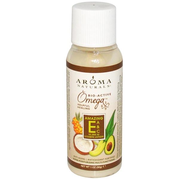 Aroma Naturals, Vitamin E Lotion, Amazing E, A & C, 1 oz (30 g) (Discontinued Item)