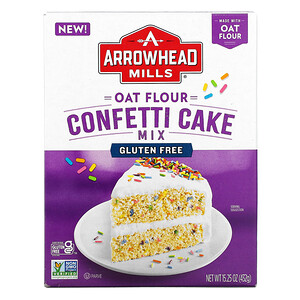 Arrowhead Mills,  Oat Flour Confetti Cake Mix, 15.25 oz (432 g)
