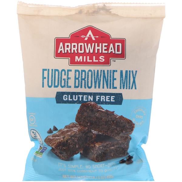 Arrowhead Mills, Gluten Free, Fudge Brownie Mix, 17.5 oz (496 g) (Discontinued Item)
