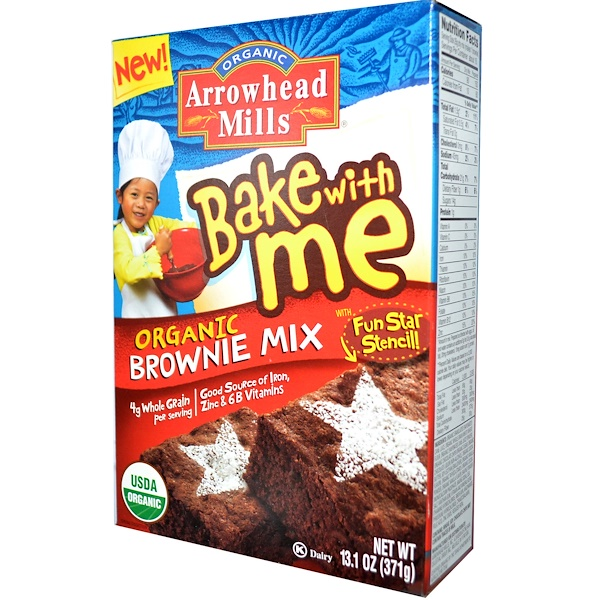 Arrowhead Mills, Bake With Me, Organic Brownie Mix, 13.1 oz (371 g) (Discontinued Item)