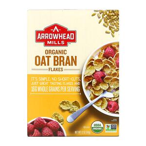 Эрроухэд Миллс, Organic Oat Bran Flakes, 12 oz (340 g) отзывы покупателей
