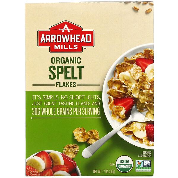 Organic Spelt Flakes, 12 oz (340 g)