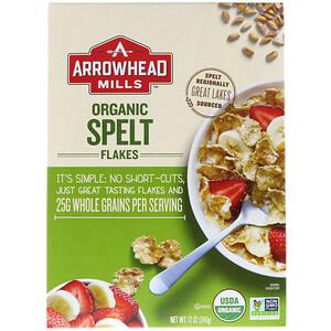 Эрроухэд Миллс, Organic Spelt Flakes, 12 oz (340 g) отзывы