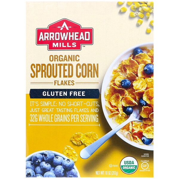 Organic Sprouted, Corn Flakes, Gluten Free, 10 oz (283 g)