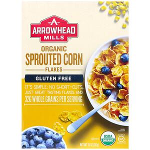 Эрроухэд Миллс, Organic Sprouted, Corn Flakes, Gluten Free, 10 oz (283 g) отзывы покупателей