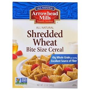 Эрроухэд Миллс, Shredded Wheat, Bite Size Cereal, 12 oz (340 g) отзывы