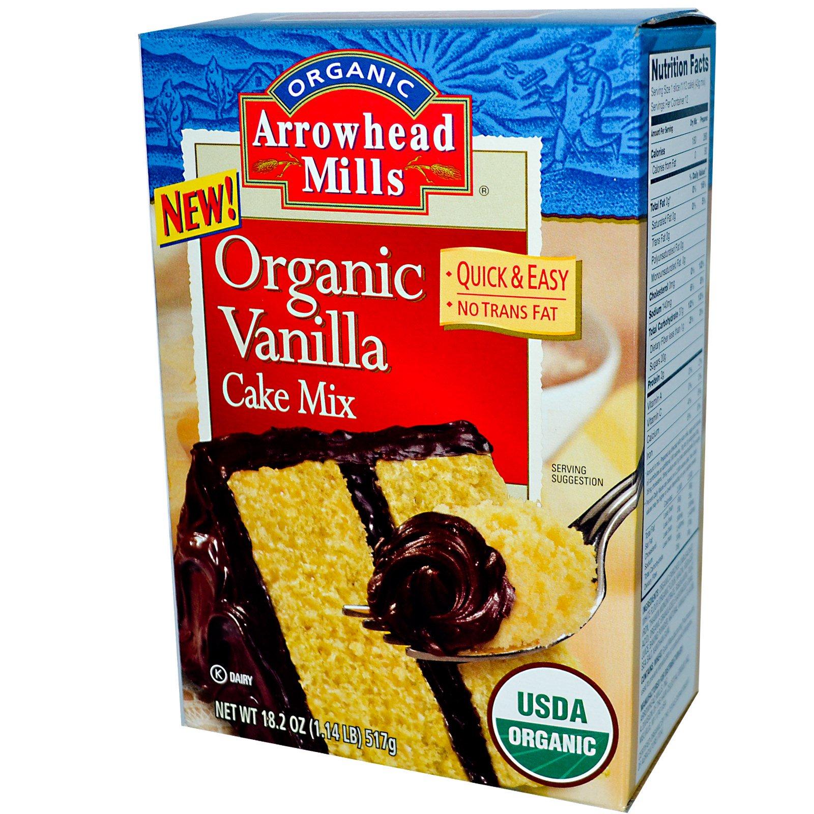 Arrowhead Mills, Органическая смесь для ванильного торта, 18,2 унций (517 г)