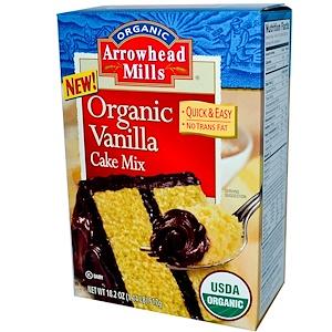 Эрроухэд Миллс, Organic Vanilla Cake Mix, 18.2 oz (517 g) отзывы