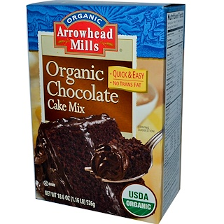 Arrowhead Mills, Organic Chocolate Cake Mix, 18.6 oz (526 g)