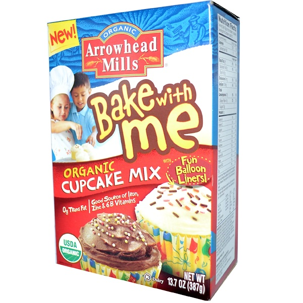 Arrowhead Mills, Bake With Me, Organic Cupcake Mix, 13.7 oz (387 g) (Discontinued Item)