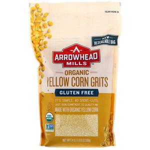 Эрроухэд Миллс, Organic Yellow Corn Grits, 24 oz (680 g) отзывы