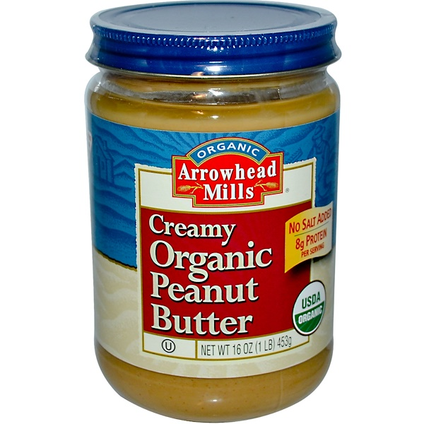 Arrowhead Mills, Organic Peanut Butter, Creamy, 16 oz (453 g) (Discontinued Item)