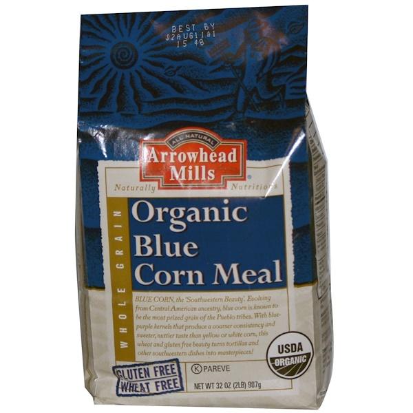 Arrowhead Mills, Organic Blue Corn Meal, 32 oz (907 g) (Discontinued Item)