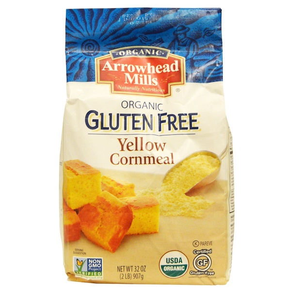 Arrowhead Mills, Organic Yellow Cornmeal, 32 oz (907 g) (Discontinued Item)