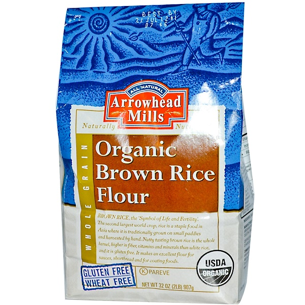 Arrowhead Mills, Organic Brown Rice Flour, 32 oz (907 g) (Discontinued Item)