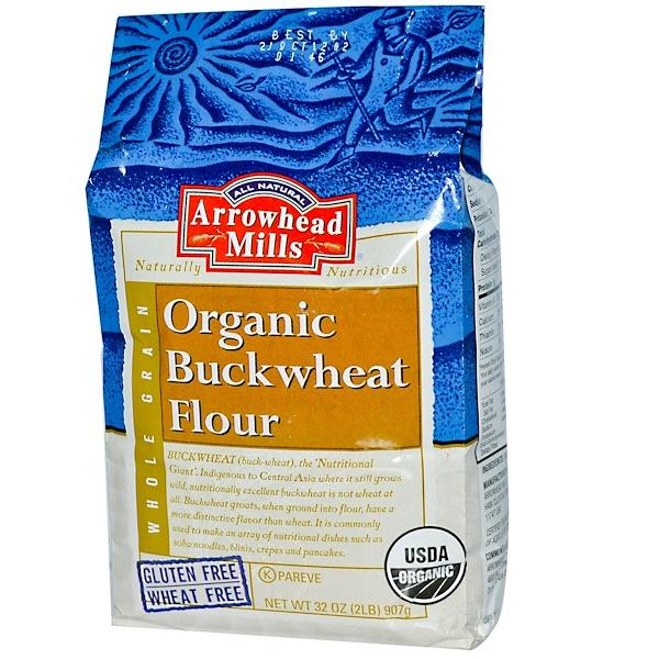 Arrowhead Mills, Organic Buckwheat Flour, 32 oz (907 g) (Discontinued Item)