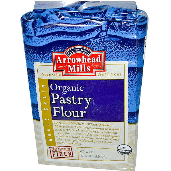 Arrowhead Mills, Organic Pastry Flour, 5 lbs (2.27 kg) (Discontinued Item)