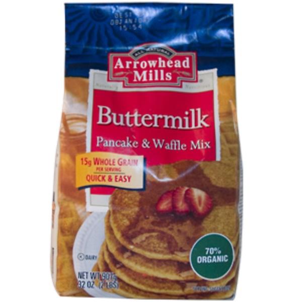 Arrowhead Mills, Buttermilk Pancake & Waffle Mix, 32 oz (907 g) (Discontinued Item)