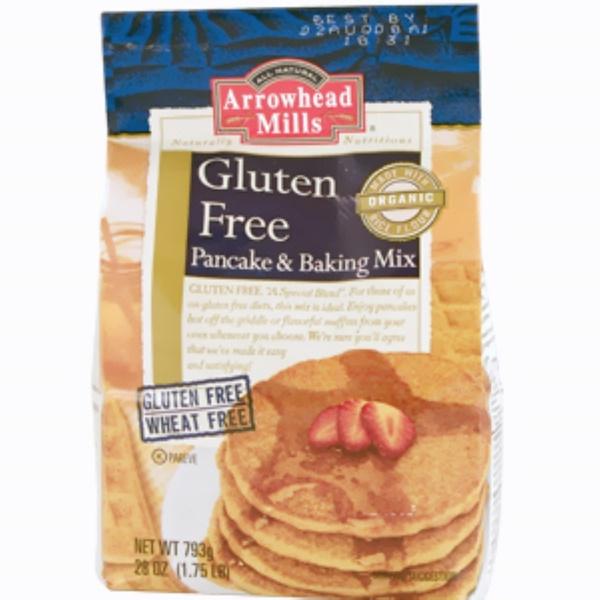 Arrowhead Mills, Gluten Free, Pancake and Baking Mix, 28 oz (1.75 lb) (Discontinued Item)
