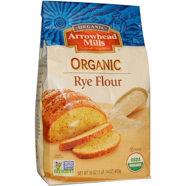 Arrowhead Mills, Organic Rye Flour, 30 oz (850 g) (Discontinued Item)