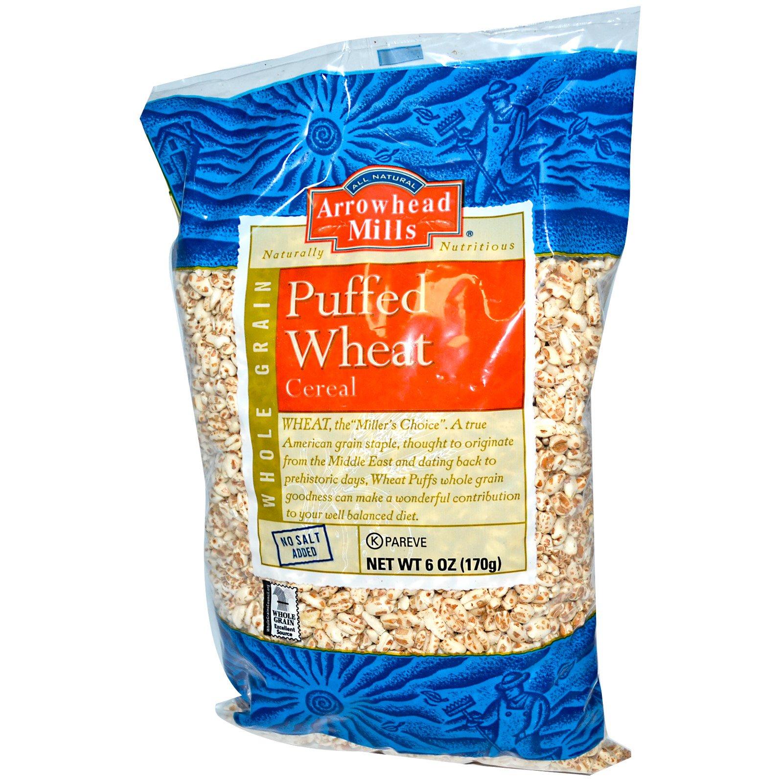 Arrowhead Mills, Puffed Wheat Cereal, 6 Oz (170 G)