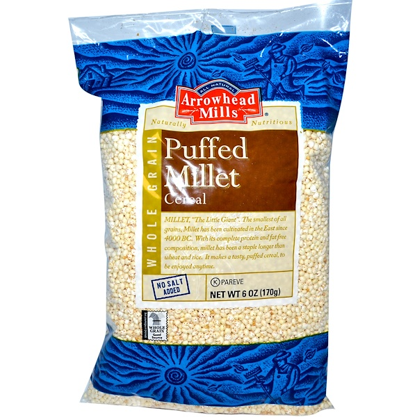 Arrowhead Mills, Puffed Millet Cereal,  6 oz (170 g) (Discontinued Item)