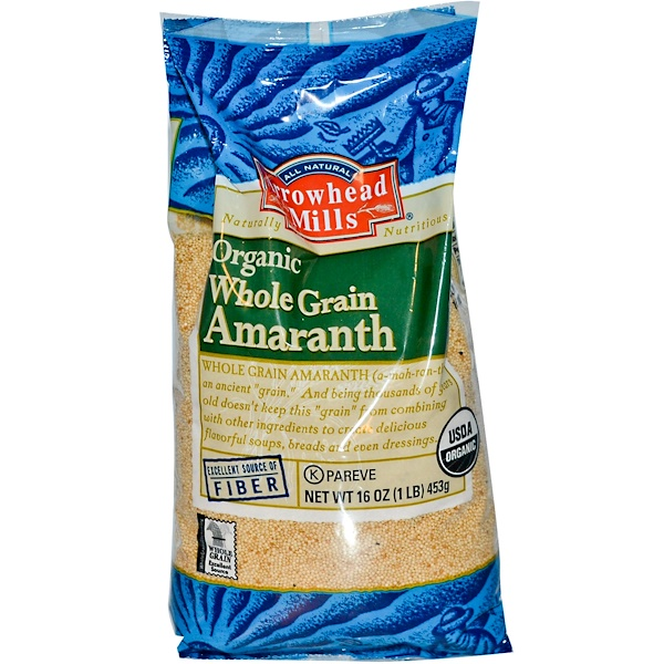 Arrowhead Mills, Organic, Whole Grain Amaranth, 16 oz (453 g) (Discontinued Item)