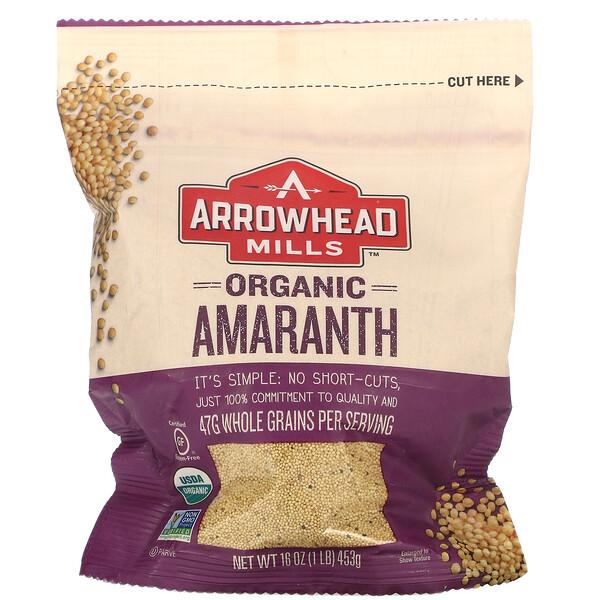 Organic, Amaranth, 1 lb (453 g)