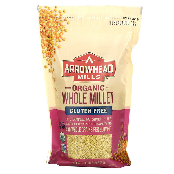 Organic Whole Millet, Gluten Free, 28 oz (793 g)