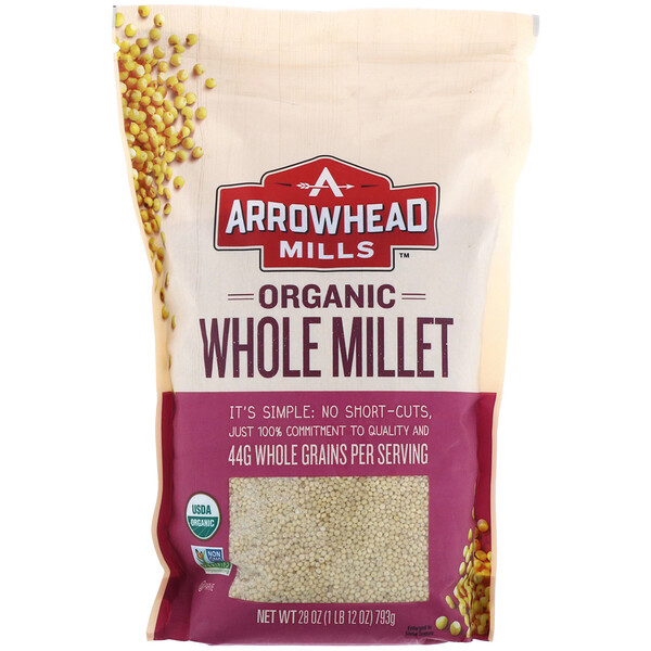 Arrowhead Mills, Organic Whole Millet, 1.75 lbs (793 g)