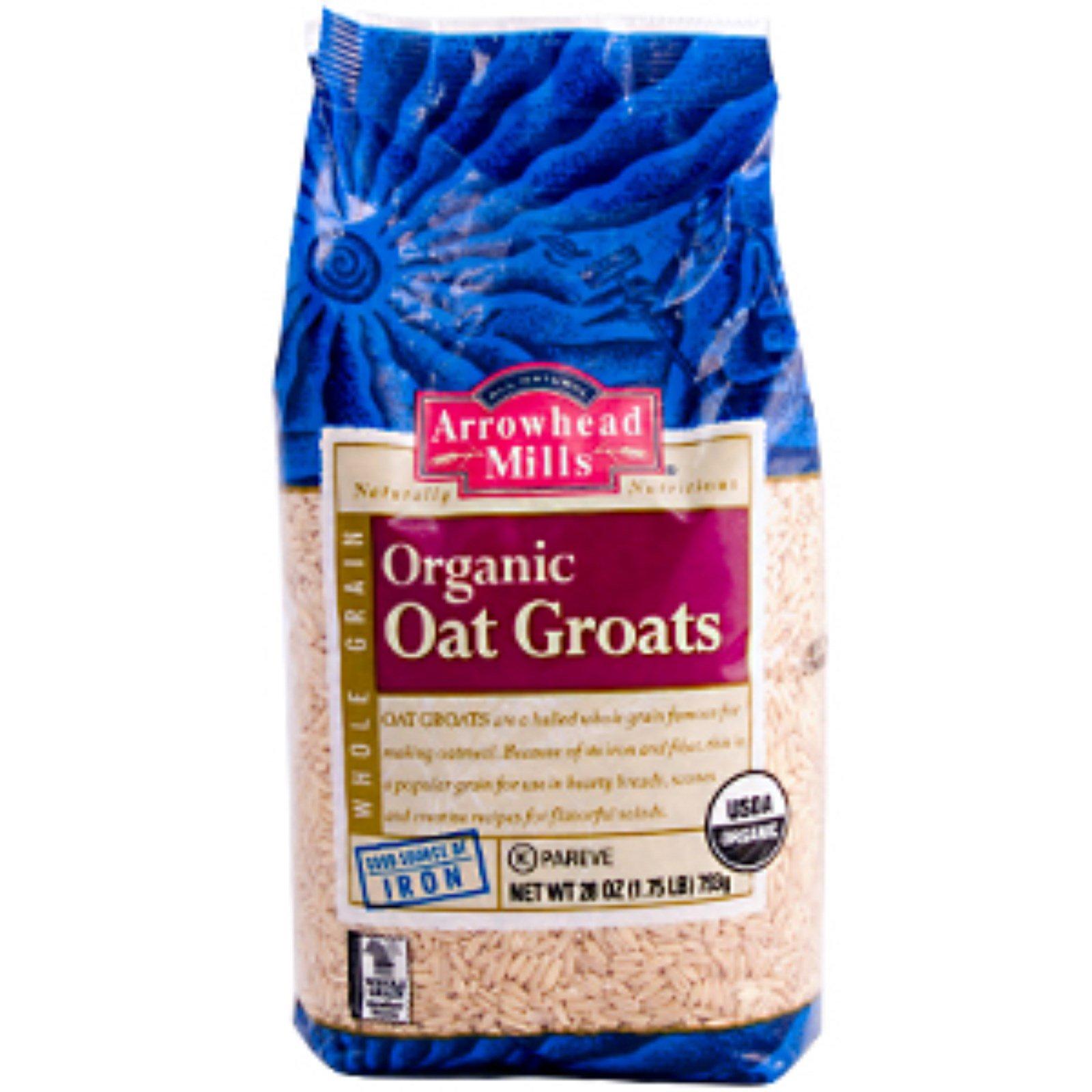 Arrowhead Mills, Whole Grain Organic Oat Groats, 28 oz (793 g
