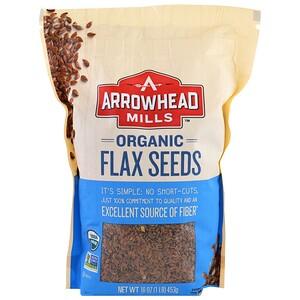 Эрроухэд Миллс, Organic Flax Seeds, 16 oz (453 g) отзывы