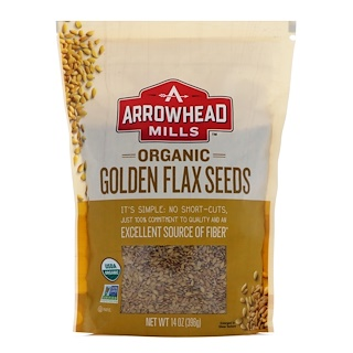 Arrowhead Mills, Organic Golden Flax Seeds, 14 oz (396 g)