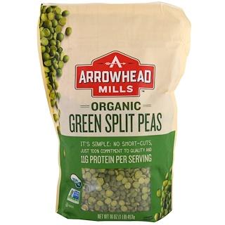Arrowhead Mills, Organic Green Split Peas, 16 oz (453 g)