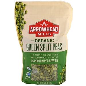 Эрроухэд Миллс, Organic Green Split Peas, 16 oz (453 g) отзывы покупателей