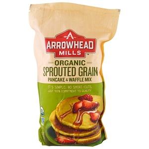 Эрроухэд Миллс, Organic Sprouted Grain Pancake & Waffle Mix, 1.6 lbs (737 g) отзывы