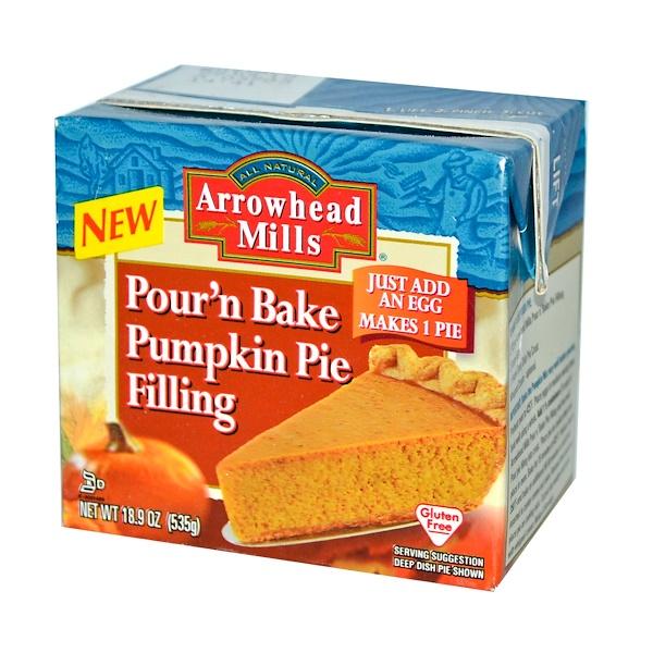 Arrowhead Mills, Pour n' Bake, Pumpkin Pie Filling, 18.9 oz (535 g) (Discontinued Item)